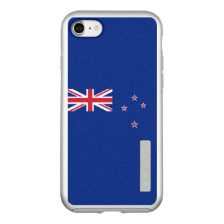 Flag of New Zealand Silver iPhone Case