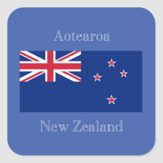 Flag of New Zealand Square Sticker