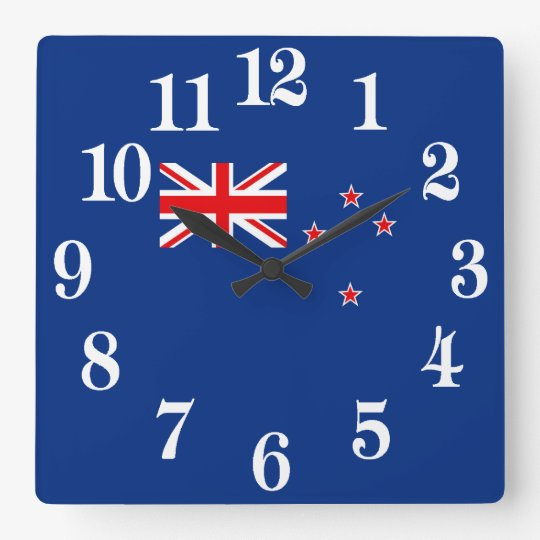 Flag of New Zealand Wallclock