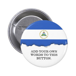 Flag of Nicaragua 2 Inch Round Button