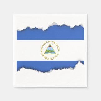Flag of Nicaragua Paper Napkin