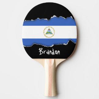Flag of Nicaragua Ping Pong Paddle