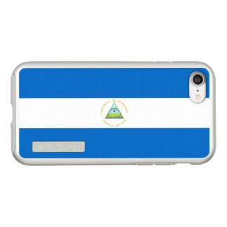 Flag of Nicaragua Silver iPhone Case