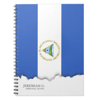 Flag of Nicaragua Spiral Note Books