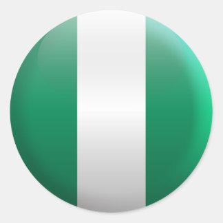 Flag of Nigeria Classic Round Sticker