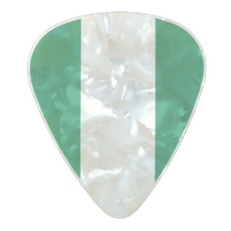Flag of Nigeria Guitar Picks Pearl Celluloid Guitar Pick