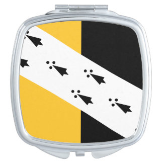 Flag of Norfolk County, England Compact Mirror