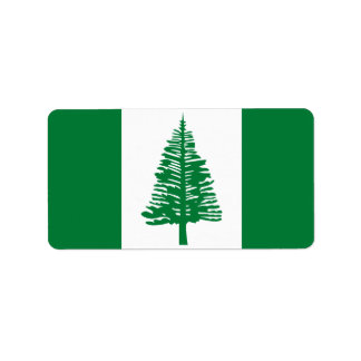 Flag of Norfolk Island Labels