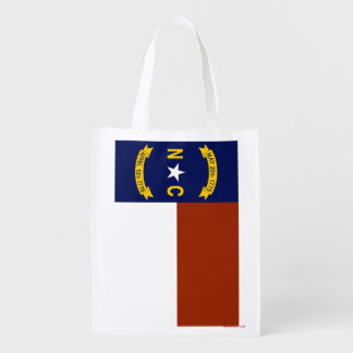 Flag of North Carolina Reusable Grocery Bag