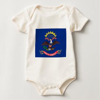 Flag Of North Dakota Baby Bodysuit