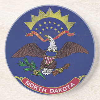 Flag of North Dakota Drink Coasters