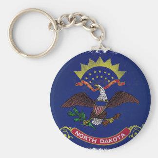 Flag of North Dakota Keychain