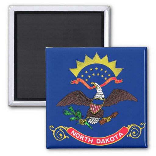 Flag of North Dakota Refrigerator Magnets