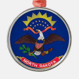 Flag Of North Dakota Metal Ornament