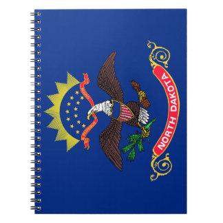 Flag of North Dakota Spiral Note Books