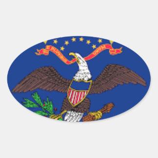 Flag Of North Dakota Oval Sticker