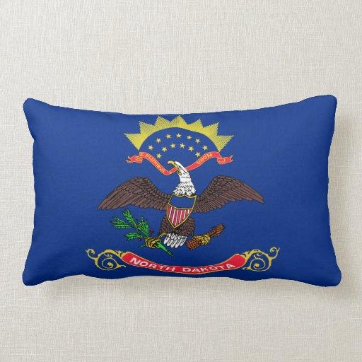 Flag of North Dakota Throw Pillows
