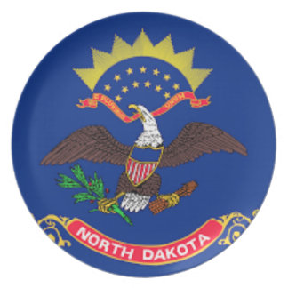 Flag Of North Dakota Plate