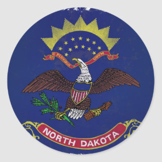 Flag of North Dakota Round Sticker