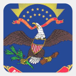 Flag Of North Dakota Square Sticker