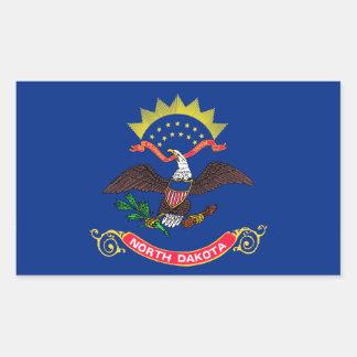 Flag of North Dakota Rectangular Sticker