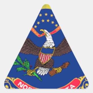 Flag Of North Dakota Triangle Sticker
