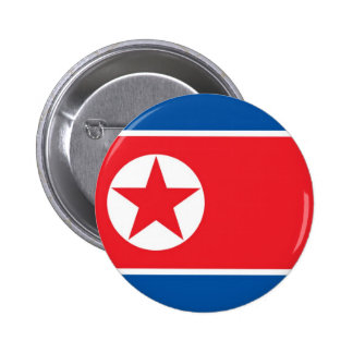 Flag of North Korea on Pin / Button Badge