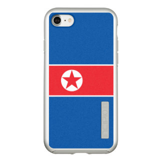 Flag of North Korea Silver iPhone Case