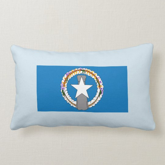 Flag Of Northern Mariana Islands (USA) Lumbar Pillow