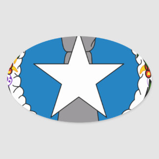Flag Of Northern Mariana Islands (USA) Oval Sticker
