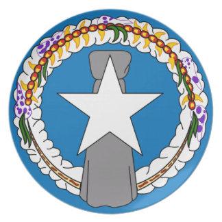 Flag Of Northern Mariana Islands (USA) Plate