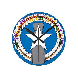Flag Of Northern Mariana Islands (USA) Round Clock
