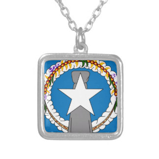 Flag Of Northern Mariana Islands (USA) Silver Plated Necklace