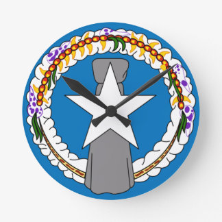 Flag Of Northern Mariana Islands (USA) Wallclocks