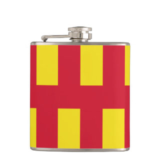 Flag of Northumberland Hip Flask