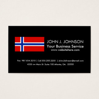 Flag of Norway Business Card