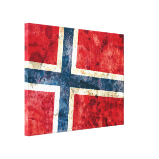 Flag of Norway Stretched Canvas Prints
