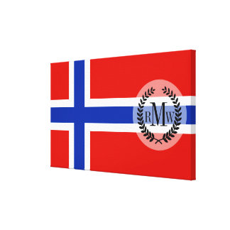Flag of Norway Canvas Print