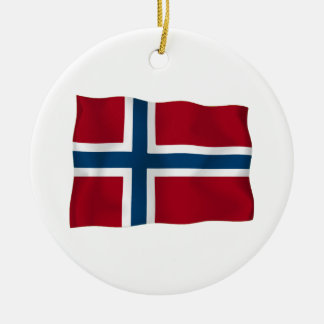 Flag of Norway Ceramic Ornament