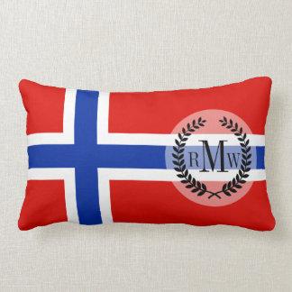 Flag of Norway Lumbar Pillow