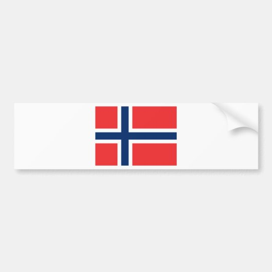 Flag of Norway - Norges flagg - Det norske flagget Bumper Sticker