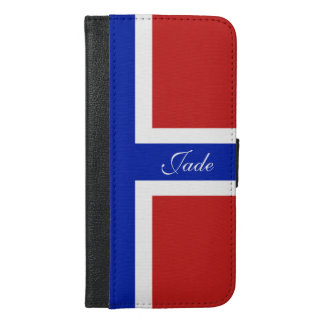 Flag of Norway Scandinavian iPhone 6/6s Plus Wallet Case