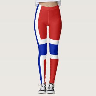 Flag of Norway Scandinavian Leggings