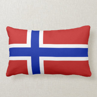 Flag of Norway Scandinavian Lumbar Pillow