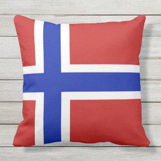 Flag of Norway Scandinavian Outdoor Pillow