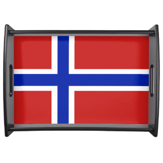 Flag of Norway Scandinavian Serving Tray