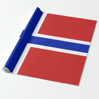 Flag of Norway Scandinavian Wrapping Paper