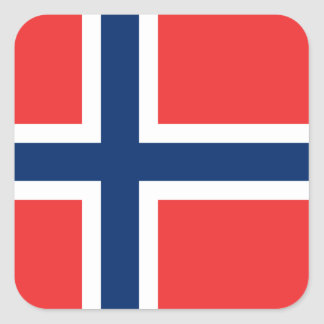 Flag of Norway Sticker (Square)