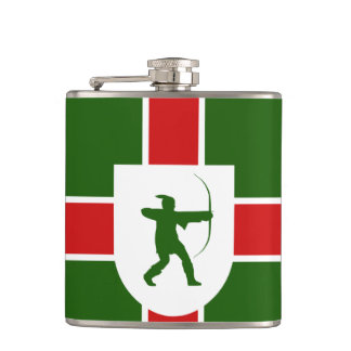 Flag of Nottinghamshire Hip Flask