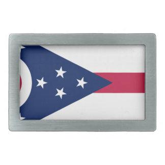 Flag Of Ohio Rectangular Belt Buckle